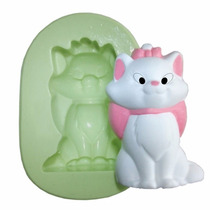 Forma Silicone Gata Marie Festa Marie Velas Doces Biscuit