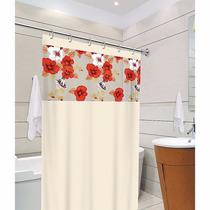 Cortina Box P/ Banheiro Estampada Clean C/ Kit (gancho) Pvc