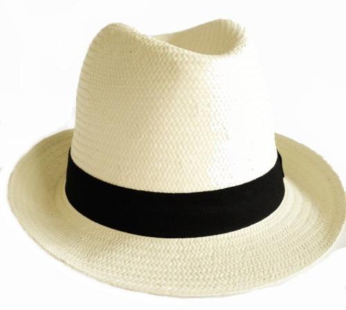 Chapéu Estilo Panamá Masculino Feminino Clássico Casual Moda - R  59 ... 0bb6fb88a53