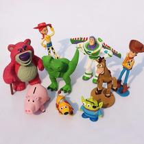 Miniaturas Toy Story Bonecos Em Pvc Kit Coleção 9 Peças