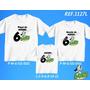 Lembrança De Aniversario Doki Personagem Camiseta Kit Com 3