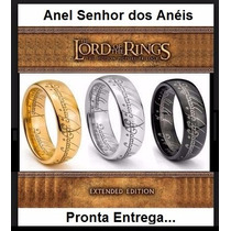 Anel Senhor Dos Anéis, Dourado, Prateado E Preto