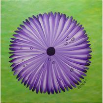 Trio Pinturas Acrílica Sobre Tela Floatingflowers 30x30x4cm