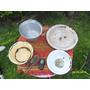 Lote Antiguas Ensaladreas Bandeja Enlozado Campo Pala Cereal