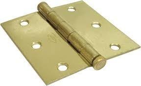 Bisagra para puerta de madera 3 x 3 pulgadas latonada bs - Bisagras para madera ...