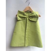 Vestido Para Bebé En Color Verde, Amarillo Y Rosa