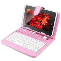 Capa Case Teclado Usb P/ Tablet 10 E 10.1 Polegadas Couro