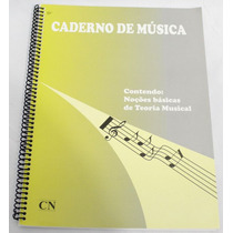 Caderno De Musica Grande 96 Folhas Universitário Com Pauta /