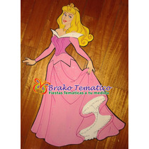 Princesas Aurora Figuras Goma Eva Cumpleaños Temáticos