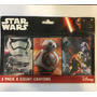 Crayones Star Wars 3 Pack X 8 Cada Caja Disney