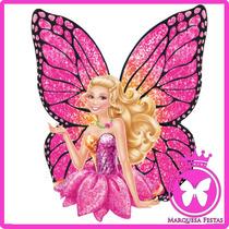 Festa Barbie Butterfly Topo De Bolo 20 Cm