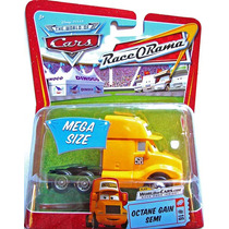 Cars Disney Octane Gain Semi. Race-o-rama. Mega Size.