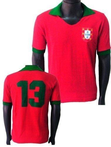 Blusa Retrô Seleção Portugal 1972 - Retro Portugal Feminina - R  89 ... e6e6670763c59