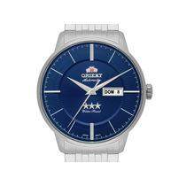 Relógio Orient Prateado Automático Mostrador Azul +frete