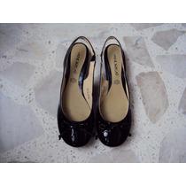 Zapatos Escolares Flats Marca Andrea 24.5 Cm.