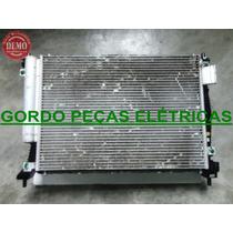 Radiador + Condensador + Ventoinha Fiat Palio 2012 1.6 16v