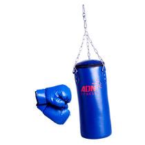 Kit Junior Boxeo Bolsa Relleno Cadenas Guantes Adn Fitness
