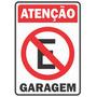 Placas De Sinalização Alugo, Proibido Fumar, Garagem