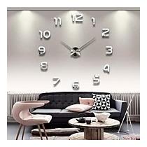 Relógio De Parede Adesivo Algarismo Grande Espelho Decoração