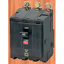 Interruptor Termico Qob 3 X 40 Amp Mod Qob340 Square D