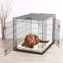 Casa Para Perros Amazonbasics Double-door Folding Metal
