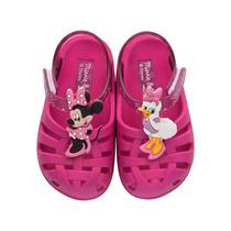 Sandalia Infantil Feminina Disney Com Velcro Tipo Crock