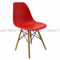 Cadeira Simples Eames Vermelha Lindo Design Fino Acabamento