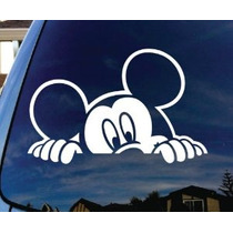 Mickey Mouse Echar Un Vistazo Ventana De Coche De Vinilo Sti