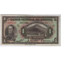 Billete Bolivia 1 Boliviano 1928 Pick 118a Exc+