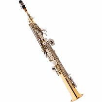 Saxofone Soprano Reto Eagle Sp502 Em Sib Laqueado Niquelado