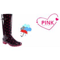 Bota 3/4 De Lluvia Pink By