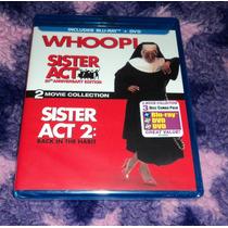 Sister Act 1 & 2 - Cambio De Habito - Bluray + Dvd Importado