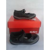 Zapatos Escolares Negros Kickers Para Niñas