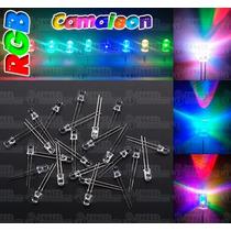 100 Led Rgb Camaleón Ultrabrillantes 5mm - Rápido/lento