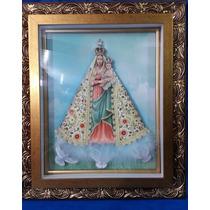 Quadro Nossa Senhora De Nazaré Em Arte Francesa