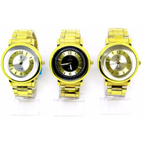Kit Com 3 Relógios Masculino De Luxo Exclusive + Brinde
