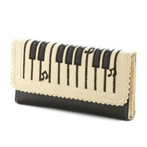 Cartera Piano Dama Piel Mujer Original Teclado Musical Mk
