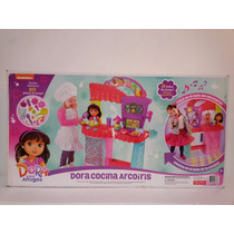 Fisher Price Dora Cocina Arcoiris Luz Musica Y 20 Accesorios