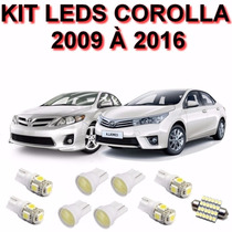 Kit Lampadas Led Corolla 2009 A 2016 Farol Teto Re
