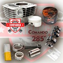 Kit Motor Fan125 2010 2011 P/ 170cc C/ Biela + Comando