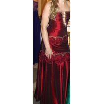 Vestido Longo Em Tafetá Vinho Formaturas Madrinha Casamento