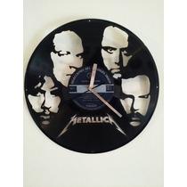 Reloj En Vinilo Diseño Original Metallica