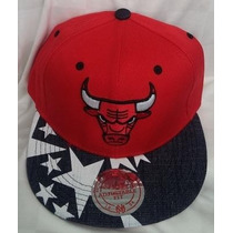 Gorra Chicago Bulls Roja Plana Ajustable De Broche.