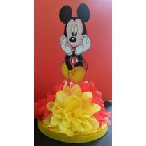 Centro De Mesa, Chupetero, Cotillon, Bandejas Mickey Mouse
