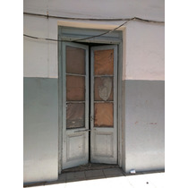 Puerta Antigua 128x283 Original Madera. Con Vidrio.