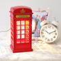 Lampara Velador Cabina Telefónica Teléfono Retro Londres