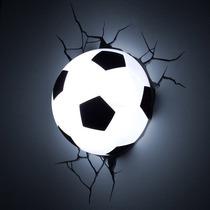 Lampara Football Para Pared 3d Pelota De Soccer Led Nueva