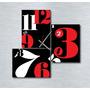 Cuadro Tríptico Reloj 70x70cm Diseño Moderno Decoracion