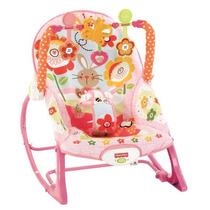 Cadeira De Descanso Balanço Fisher Price Musical Coelho Rosa