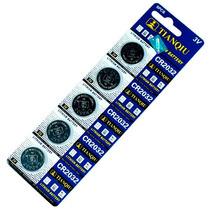 5 Pack De Baterías De Litio Cr2032 3v Tipo Botón!